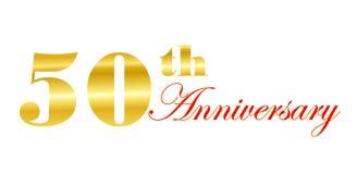 50ste Anniversay Stock Afbeelding
