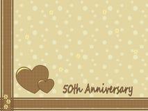50ste huwelijksverjaardag Stock Fotografie