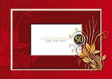 50ste verjaardag royalty-vrije illustratie