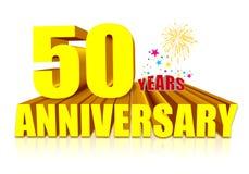 50ste Verjaardag Stock Foto