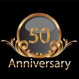 50th årsdagguld Royaltyfria Bilder
