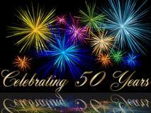 50th праздновать годовщины Стоковые Фотографии RF