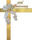 50th приглашение карточки годовщины Стоковая Фотография