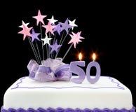 50th торт Стоковая Фотография