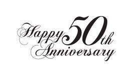 50th aniversário feliz Imagens de Stock Royalty Free