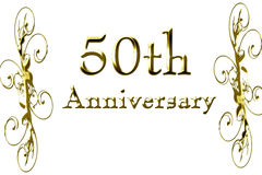 50th anniversary. On a solid white background Stock Photography