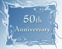 50th anniversary. On a soft blue background royalty free illustration