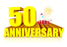 50th Anniversary Stock Photo