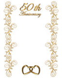 50th Anniversary Border Invitation Stock Photos
