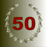 50th Anniversary Card Royalty Free Stock Photography