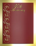50th Anniversary Card or Invitation Royalty Free Stock Photo