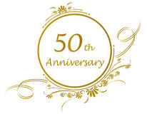 50th anniversary design Stock Photography