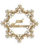 50th anniversary Design element. 50th anniversary gold design element for card or invitation, favor art Stock Photography
