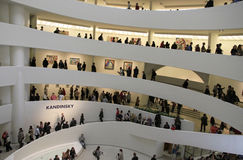 50th Anniversary of Guggenheim Museum. This was shot in New York City on Oct.  21, 2009. The Guggenheim Museum celebrates its 50th anniversary with free Royalty Free Stock Photos