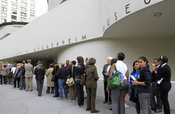 50th Anniversary of Guggenheim Museum Stock Photo