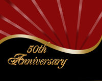 50th Anniversary invitation Stock Photo