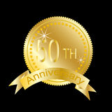 50th anniversary of marriage or business. 50th (gold) anniversary of marriage or business Stock Images