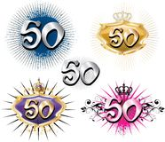 50th Birthday or Anniversary. Vector Illustration for Special Birthdays Anniversaries and Occasions. Great for t-shirt or cards Stock Photo