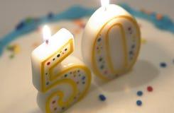 50th birthday cake Stock Images