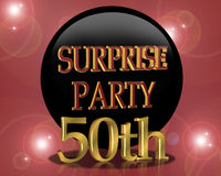 50th Birthday Surprise party Invitation Stock Photo