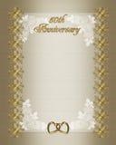 50th bröllop för årsdaginbjudanmall Royaltyfri Bild