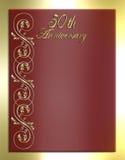 50th Cartão ou convite do aniversário Foto de Stock Royalty Free