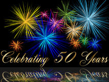 50th celebrating anniversary Royalty Free Stock Photos