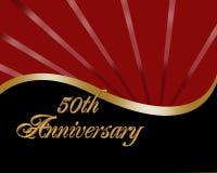50th Convite do aniversário Foto de Stock