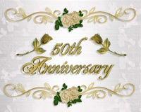 50th Convite do aniversário Imagem de Stock