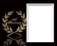 50th Convite do aniversário de casamento Fotografia de Stock Royalty Free