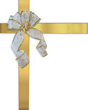 50th Convite dourado do presente do aniversário Foto de Stock Royalty Free