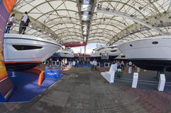 50th edition of the Boats show in Genoa Stock Images