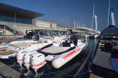 50th edition of the  Boats show of Genoa, Italy Royalty Free Stock Images