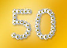 50th födelsedag Royaltyfri Fotografi
