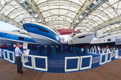 50th fartygupplagagenoa italy show Royaltyfri Bild