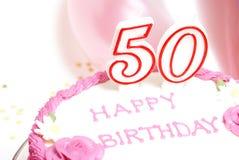 50th lyckliga födelsedag Royaltyfri Foto
