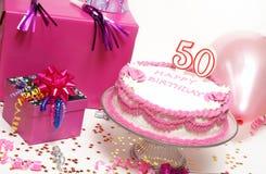 50th lyckliga födelsedag Arkivbilder