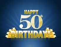 50th lyckliga födelsedag Royaltyfria Bilder