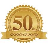 50th Selo do aniversário ilustração stock