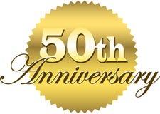 50th Selo do aniversário/eps Fotografia de Stock