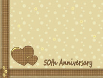 50th wedding anniversary. Illustration for 50th wedding anniversary card Stock Photography
