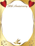 50th wedding anniversary. A 50th wedding anniversary border with copyspace, text vector illustration
