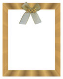 50th wedding anniversary border frame. Image and illustration composition gold frame with decorative bow for 50th wedding anniversary border or frame for picture Stock Photography