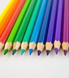 51 befläckte blyertspennor Royaltyfri Fotografi