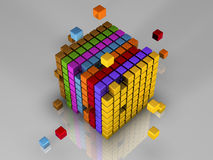 512 bits of code Stock Photography