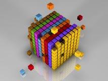 512 bits van code Stock Fotografie