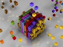 512 bits van code Stock Foto's