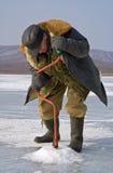 52钓鱼的冬天 免版税库存照片