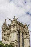 52 m Saint-Jacques Tower on Rivoli street. Paris. Royalty Free Stock Images