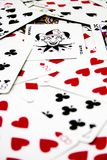 52 pickup Poker Cards royalty free stock photos